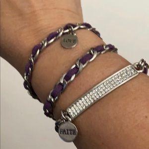 Premier Design Purple Playful charm wrap bracelet